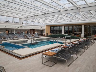 Inclosed pool on Viking Sky