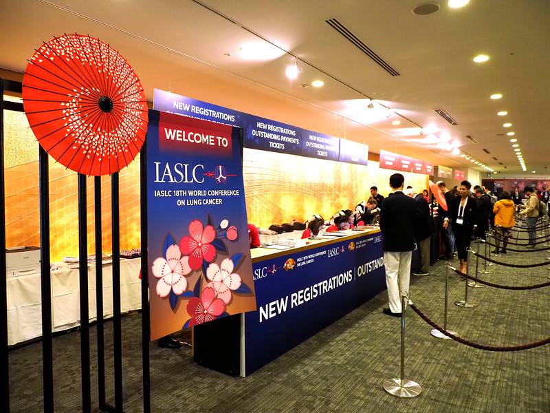Attendees - during Registration for WCLC
