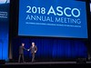 Clifford A. Hudis, MD, FACP, FASCO, ASCO CEO, and Bruce E. Johnson, MD, FASCO, ASCO President, during Opening Session