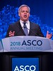Bruce E. Johnson, MD, FASCO, delivering the President's Address during Opening Session