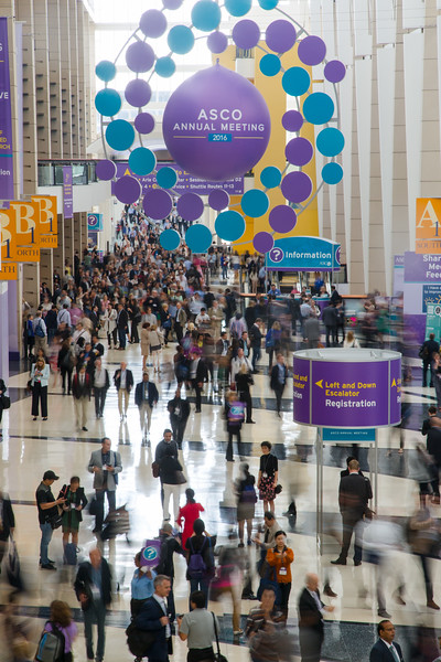 Attendees entering the Oncology Professionals Hall during