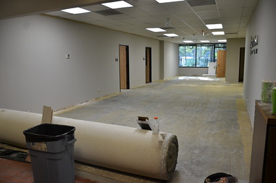 Old Building 1 reception area -- will be NAC