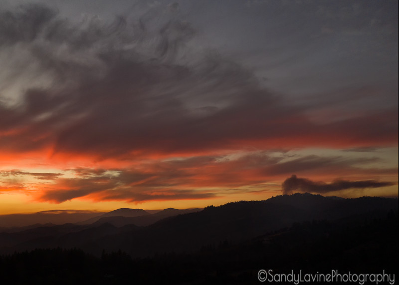 Red Sunset over Howell Mountain