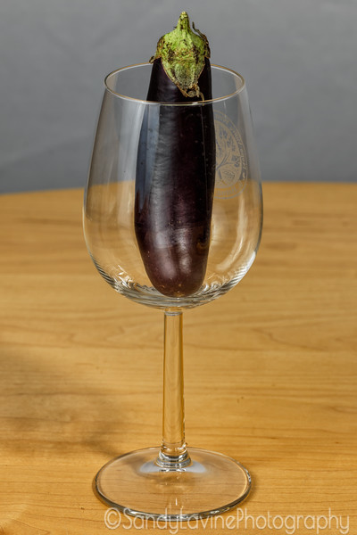 Eggplant and Wine Glass