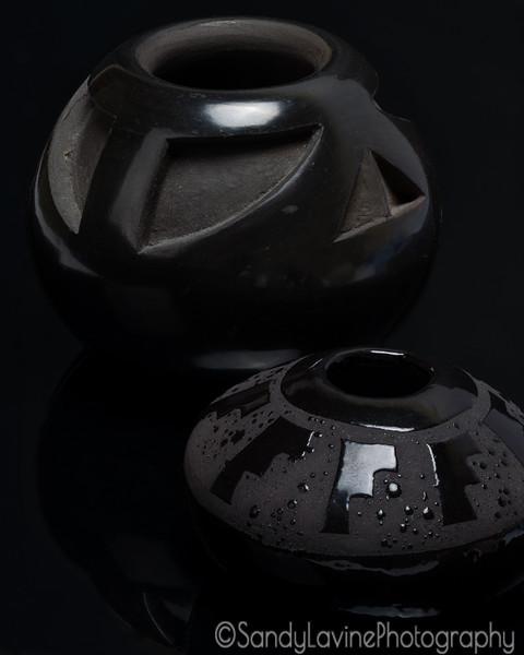 Two Native American Adobe  Pots