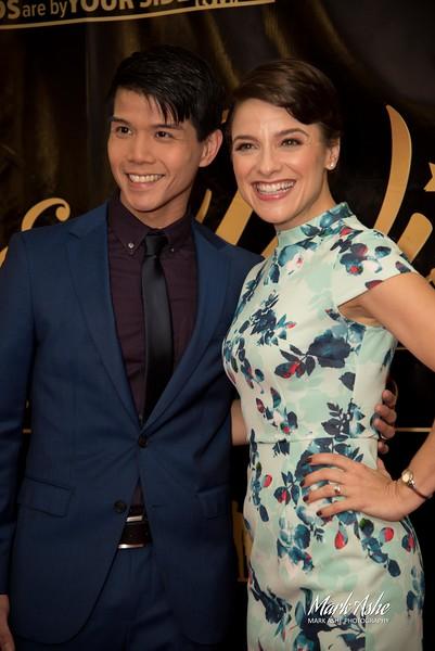 Telly Leung and Jenn Gambatese