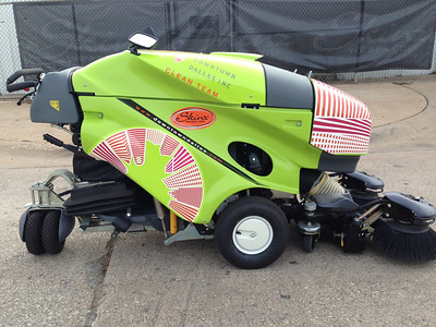 Downtown Dallas Inc., Clean Team, Street Cleaner Floor Machine, Dallas, TX