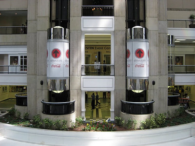 Coca Cola at The Westin Hotel, Glass Elevators, Dallas, TX