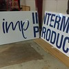 Vinyl Sign wrap on aluminum substrate for Intermex Products, Dallas, TX