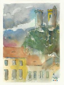 No 223 Château de Foix vu de la ville
