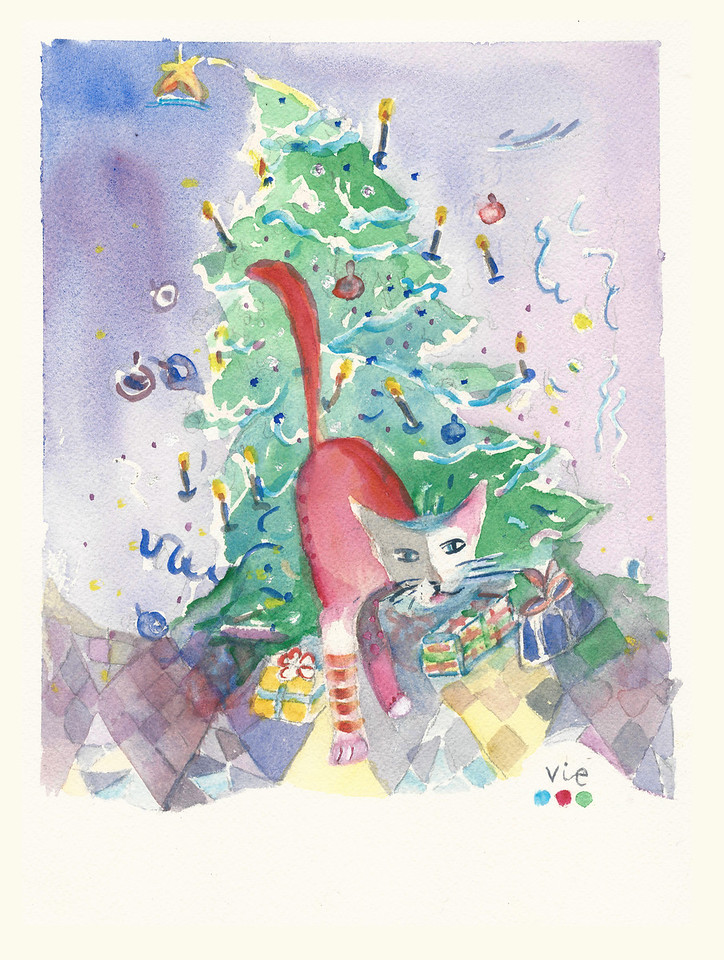 No359 La chatte à  Noël