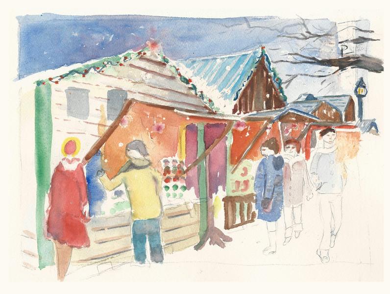No 354 Le marché de Noël