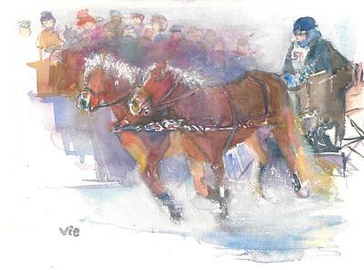 No 34 la course de traineau a cheval