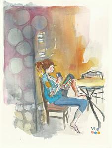 No 178 Demoiselle au café