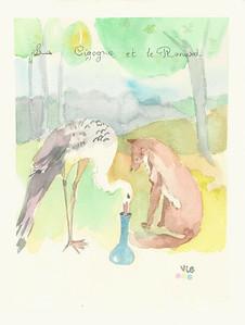 No 124 La cigogne et le renard