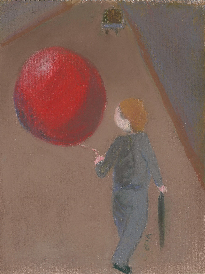 No 150 Le ballon rouge et le garçon dans la rue
