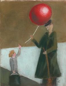 No 146 Voici mon ballon rouge, tenez-le bien!