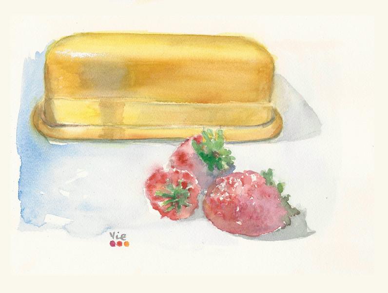 No 312 Les fraises et le beurrier