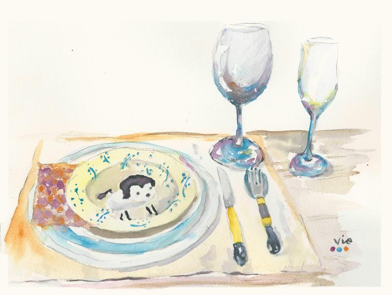 No 319  À la table!
