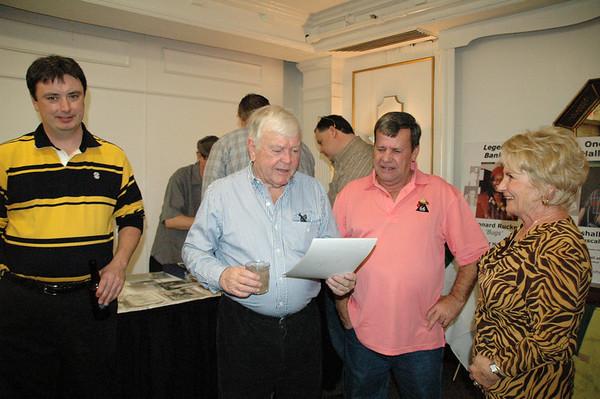 'Squirrel' and Truman Hogue, with Squirrel's protege Harold McAbee looking on<br /> -- Diana Hoppe photo