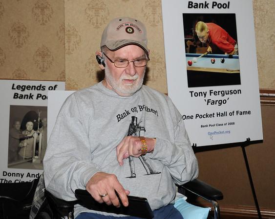 Vernon Elliott accepted Tony Fargo's plaque  on behalf of Tony.