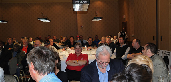 Our host, Greg Sullivan in the crowd -- Photo by Diana Hoppe