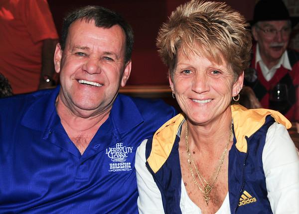 Banks HOF Truman Hogue & his wife Lisa