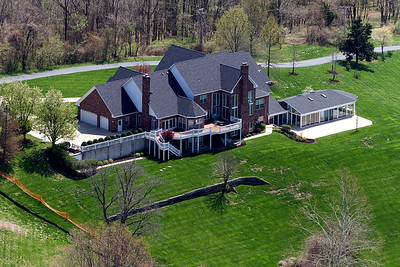 House from Saint Louis MO.  Aerial Shot.