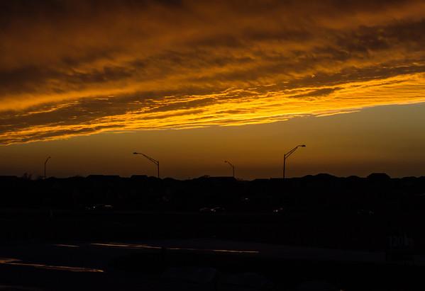January 11,  2013 :: 11/365<br /> A NE sunset, plus a few street lights.