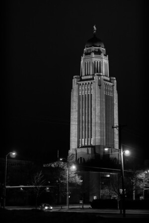 February 9,  2013 :: 40/365<br /> We made a quick stop on the way home from the NU basketball to take this quick shot of the state capital building.