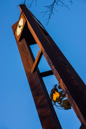 January 5, 2013<br /> The clock tower at Union College.  I couldn't seem to get an angle without branches sticking out...