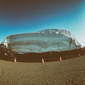 Readymade Christo and Jeanne-Claude on our doorstep - day#297 - year#08