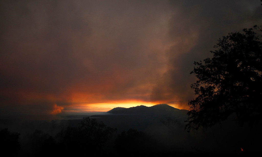 . Heavy smoke from the Soberanes Fire west of Cachagua on Tuesday, August 2, 2016.  The Soberanes Fire was 45,800 acres and 25% contained  (Vern Fisher - Monterey Herald)