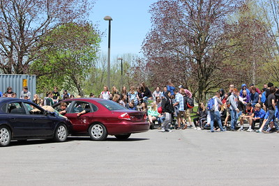 Oneida High School hosts its mock DWI on Friday, May 11, 2018.