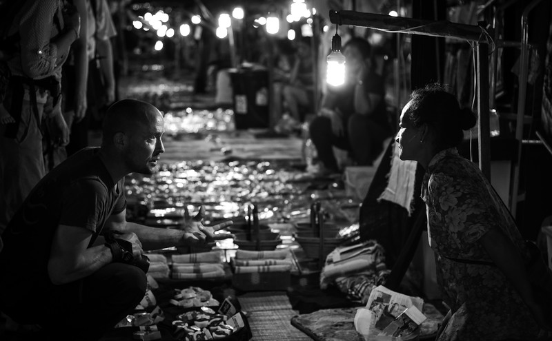 The art of the deal. Luang Prabang, Laos. February 2017.