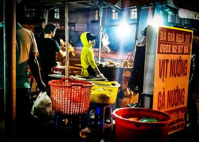A BBQ master in Da Lat, Vietnam. November 2016.