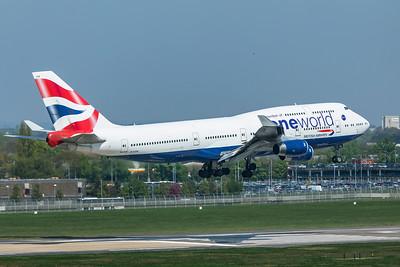 British Airways Boeing 747-436 G-CIVM 4-19-19