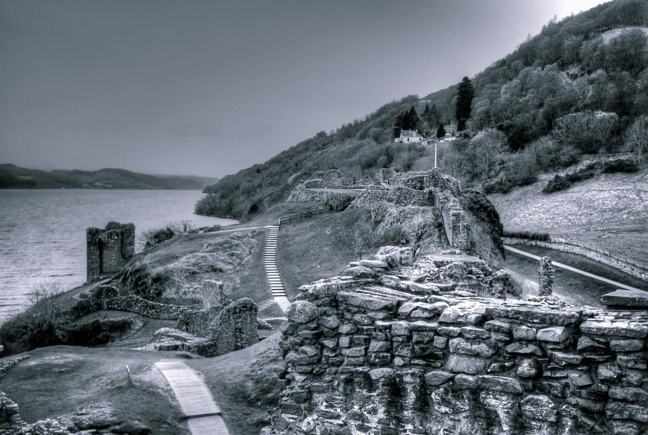 Castle ruins on Loch Lomond, Scotland - 1999