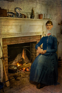 The Devil With the Blue Dress On... preparing snake stew, waiting for her husband, the headless horseman, to come home from a long day of terrorizing the BRP. Neither of them could eat, but she made it for old times sake.