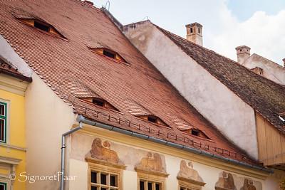 City's Eyes -- the eye windows of Sibiu
