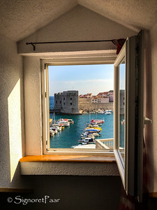 Dubrovnik, Croatia -- Room with a view!