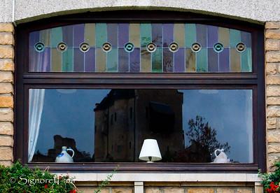 Reflection of Larochette Castle