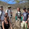 Today's crew, from left: Irene, Stephanie, Keahi, Hank, Michael & Kainoa. Photo by Katie Romanchuk