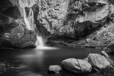 Falls of Tarnash Keith b&w
