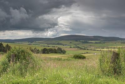 Balloch Hill Keith under the rain storm