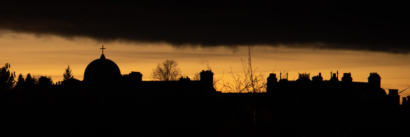 Keith rooftops at sunset