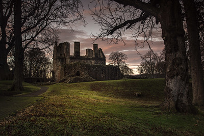 Huntly Castle at sunrise. Huntly Aberdeenshire
