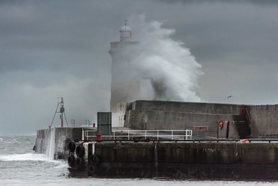 High seas at Buckie