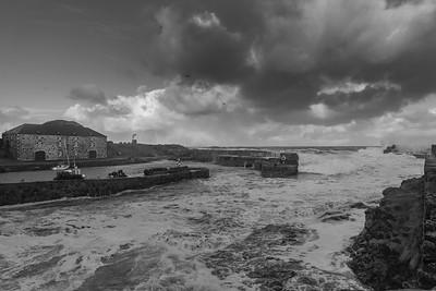 Storm at Portsoy