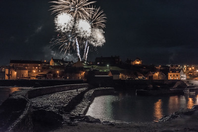 Portsoy harbour at New Year 2018